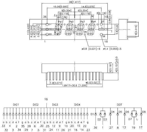 CC25-12EWA, 7-сегментный